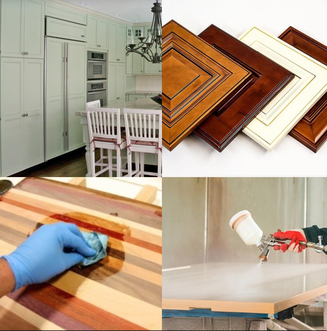 Kitchen Refinishing - Vanity Refinishing - Furniture Refinishing