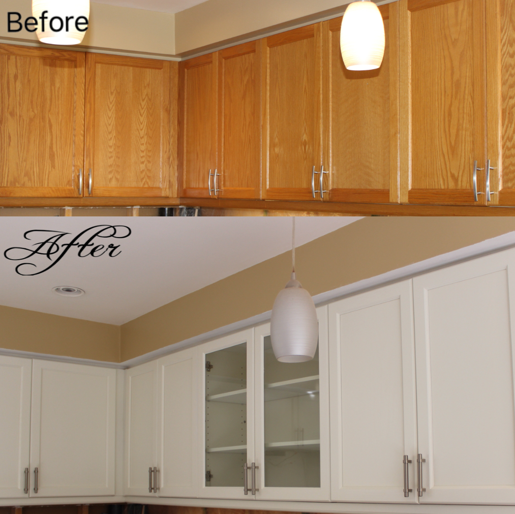 Refinishing Painted Kitchen Cabinets: Kitchen Cabinet Painting