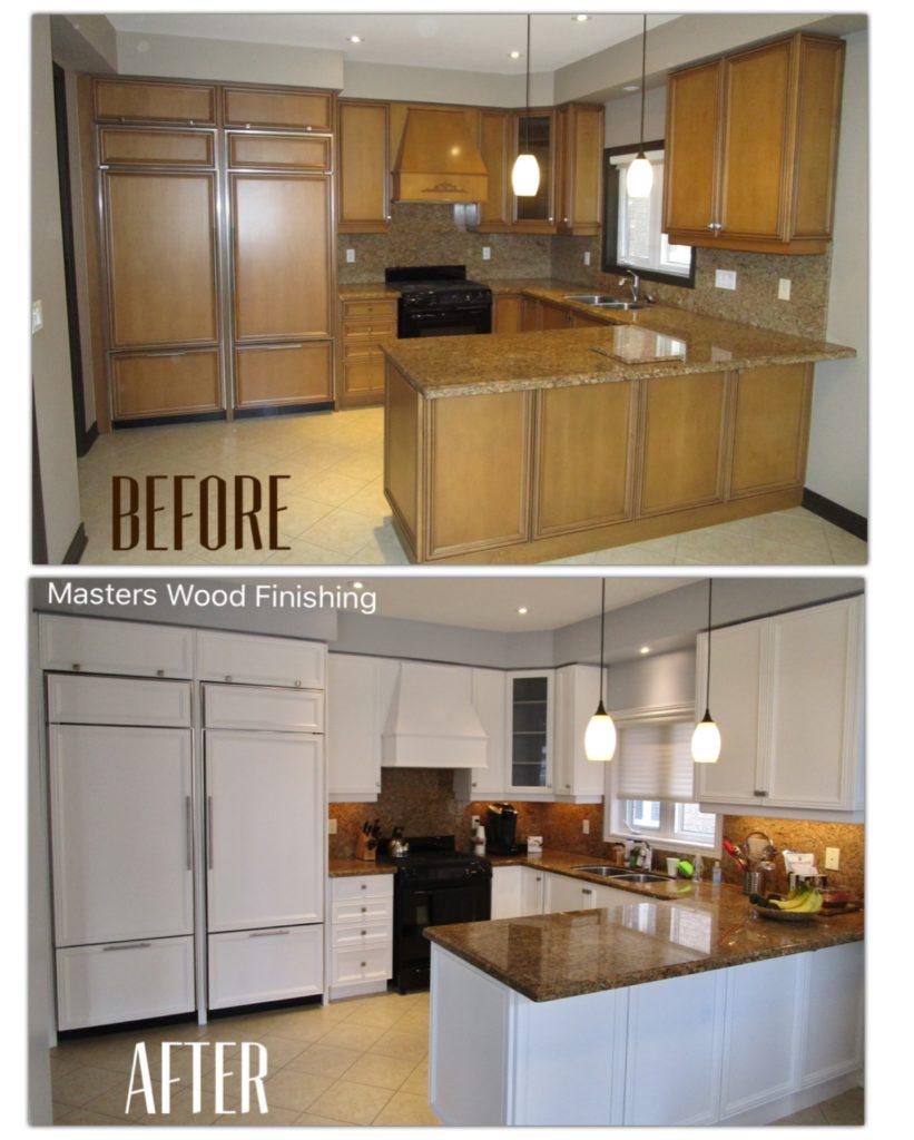 Kitchen Cabinet Spray Painting - Masters Wood Finishing